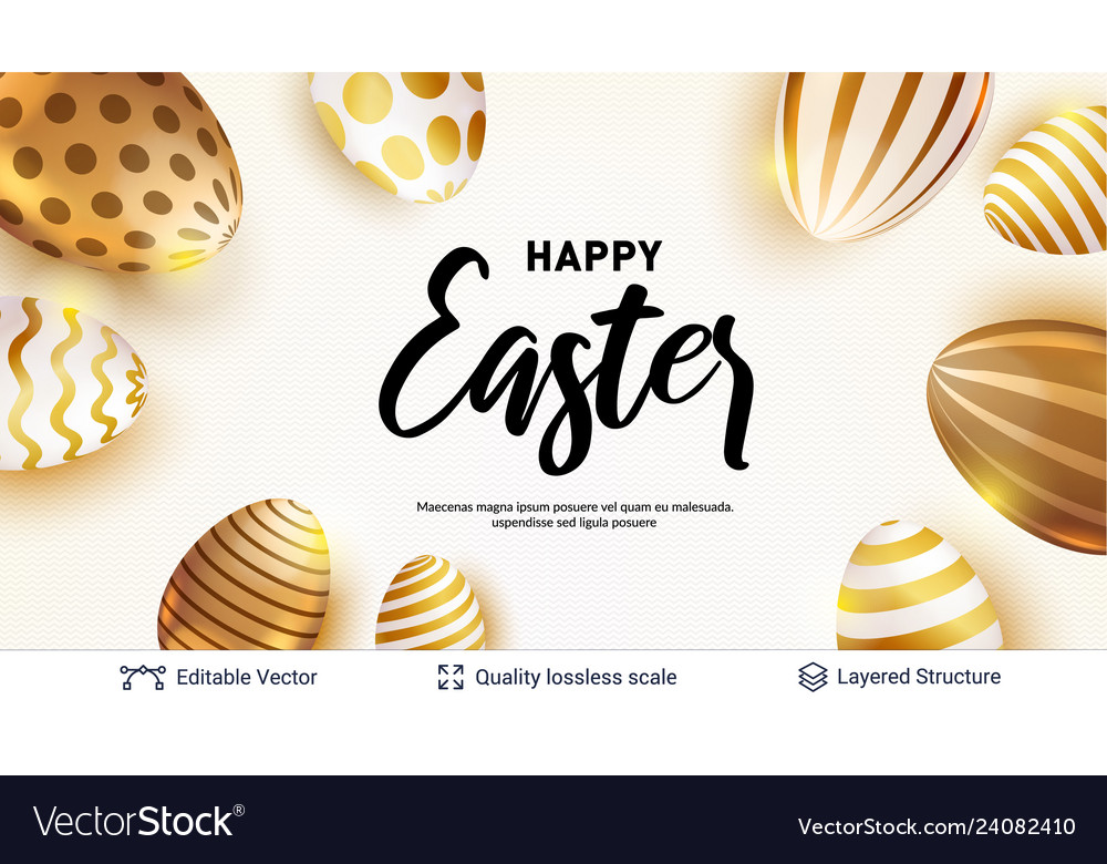 Easter holiday greeting card or banner template