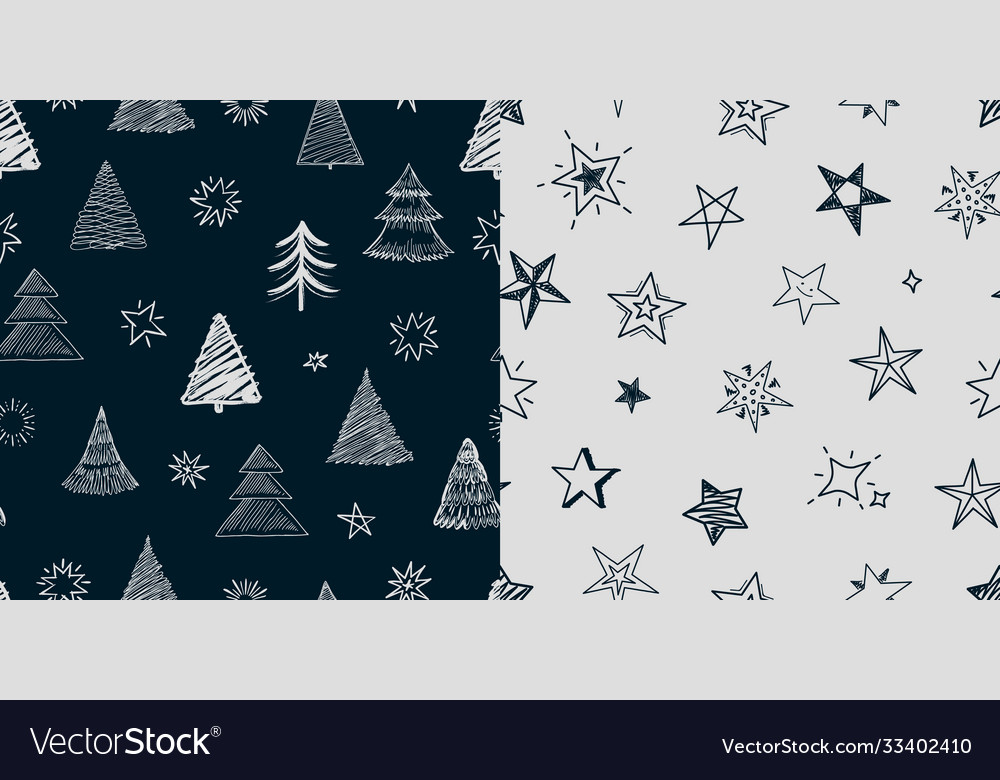 Fir tree stars pattern year