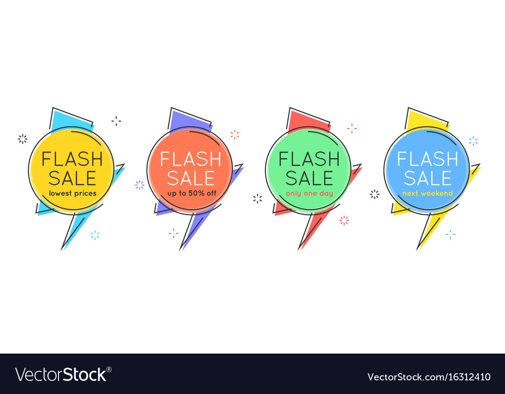 Flat style minimal trendy bubble shaped banner vector image