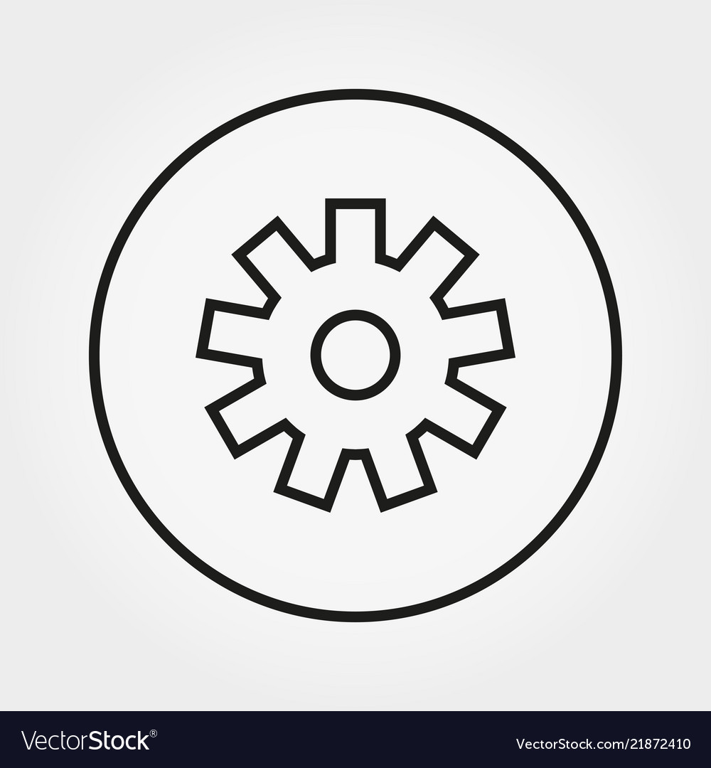 Gear building kit toy icon line