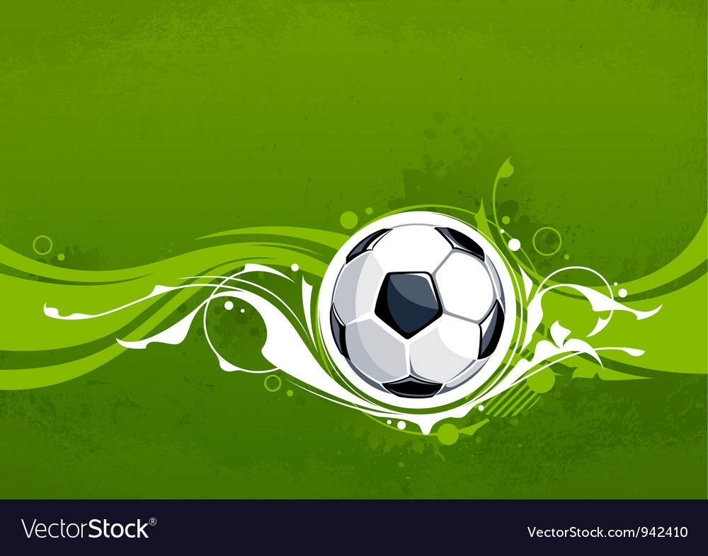Grunge football background vector image