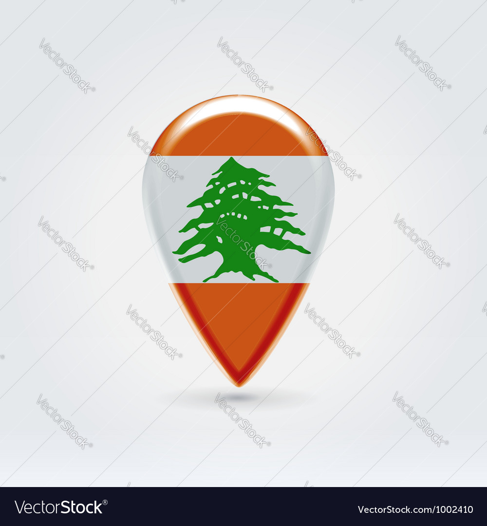 Lebanon icon point for map