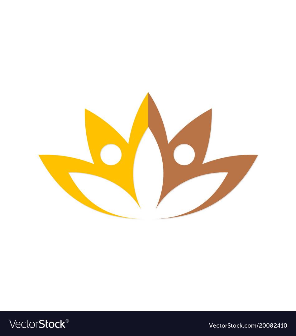 Lotus flower beauty spa logo