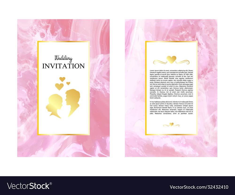 Marble wedding invitations thank you card card