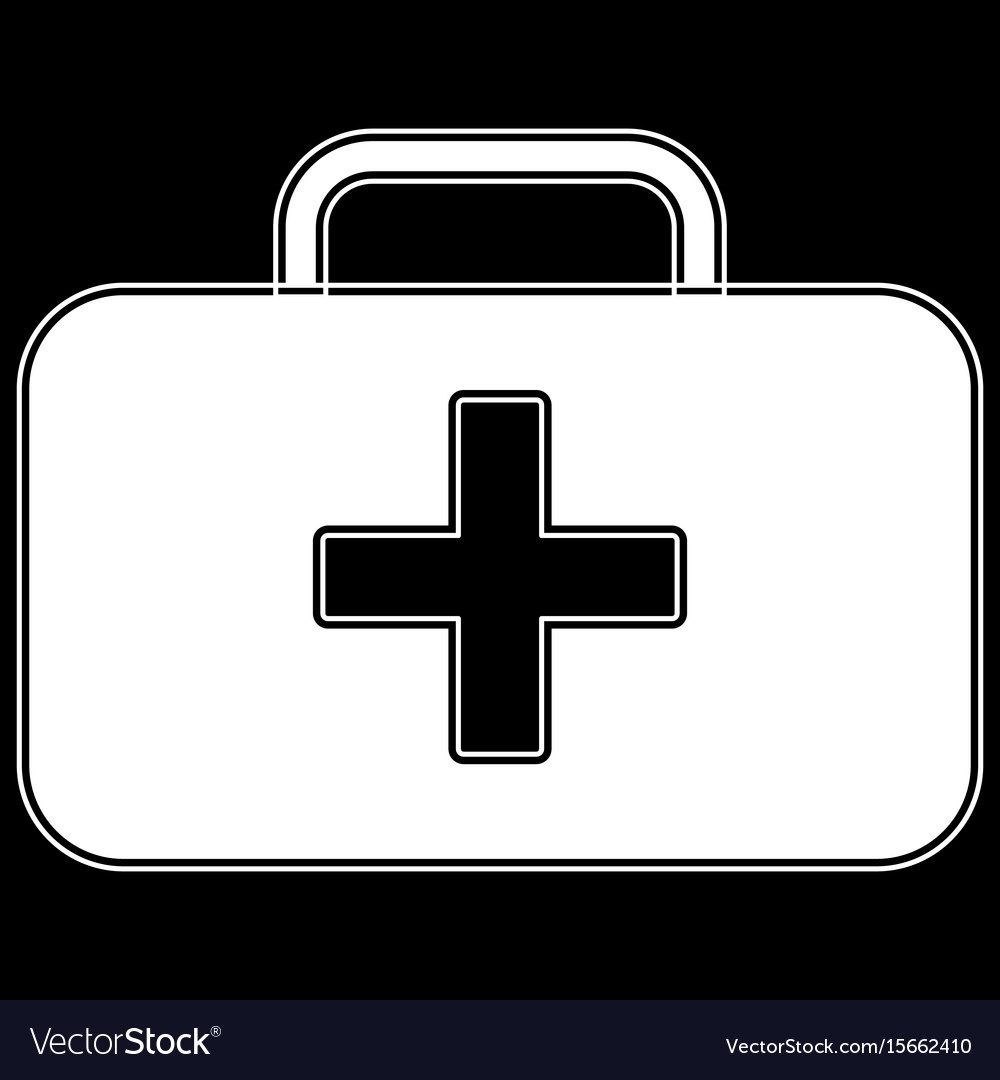 Medical case the white color icon vector image