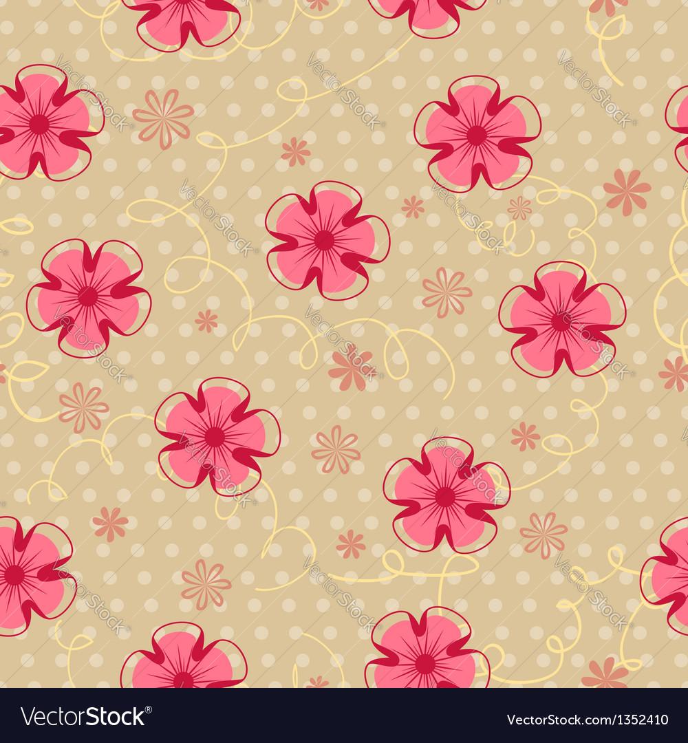 Romantic vintage seamless floral pattern