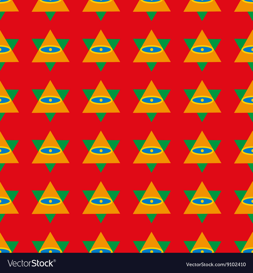 Triangle geometric seamless pattern