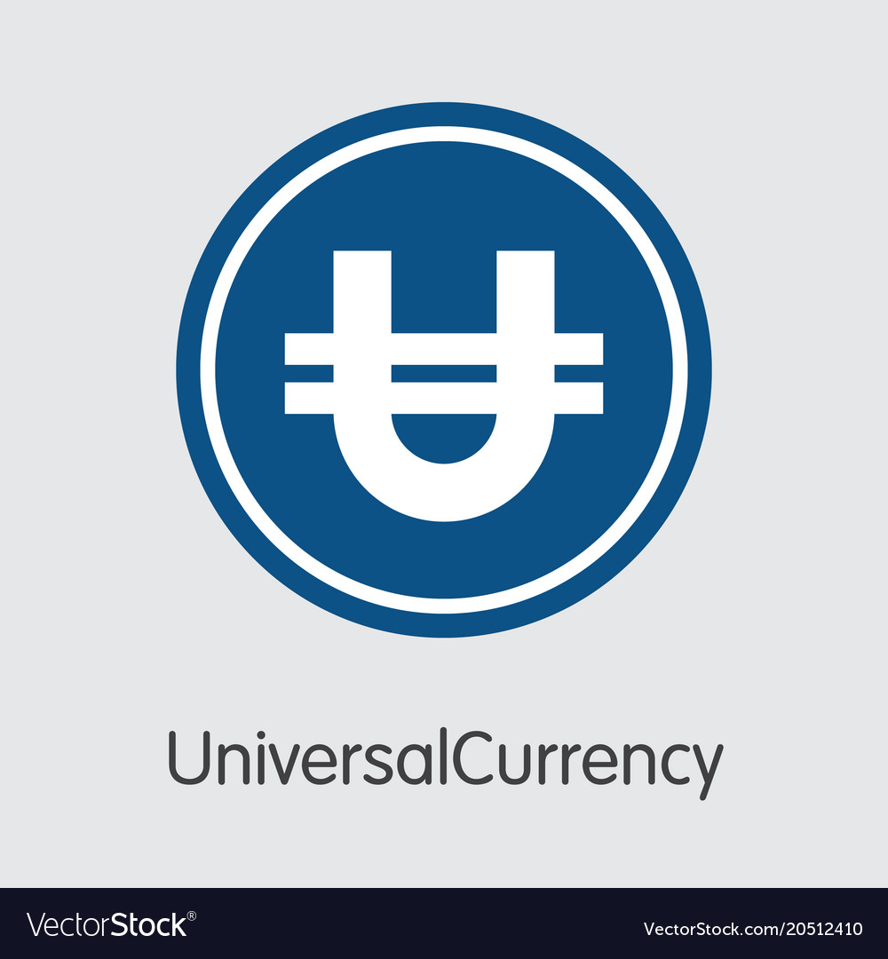 Universalcurrency Crypto Currency Sign Icon Vector Image