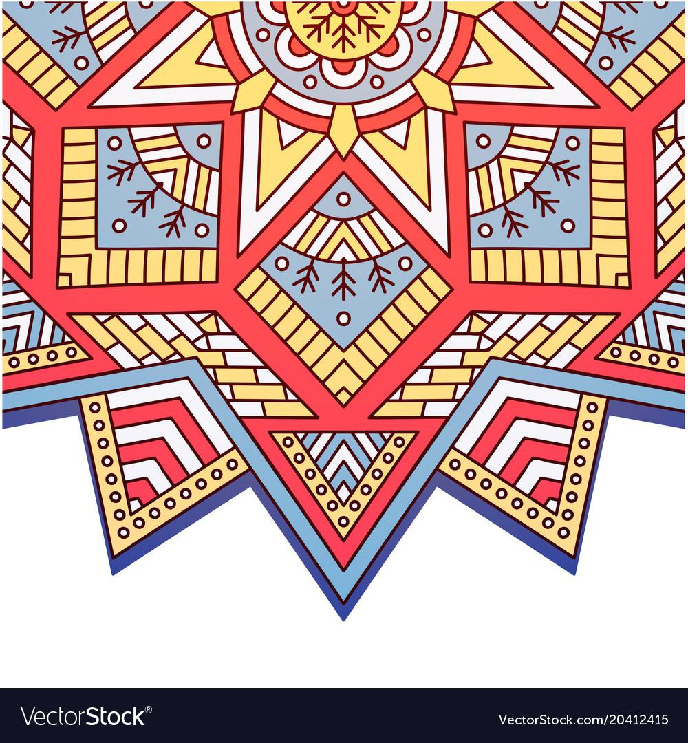745709f7b2261 Abstract mandala triangle square design ima Vector Image