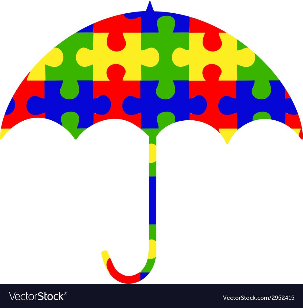 autism umbrella clip art logo royalty free vector image rh vectorstock com autism clip art designs autism clip art free