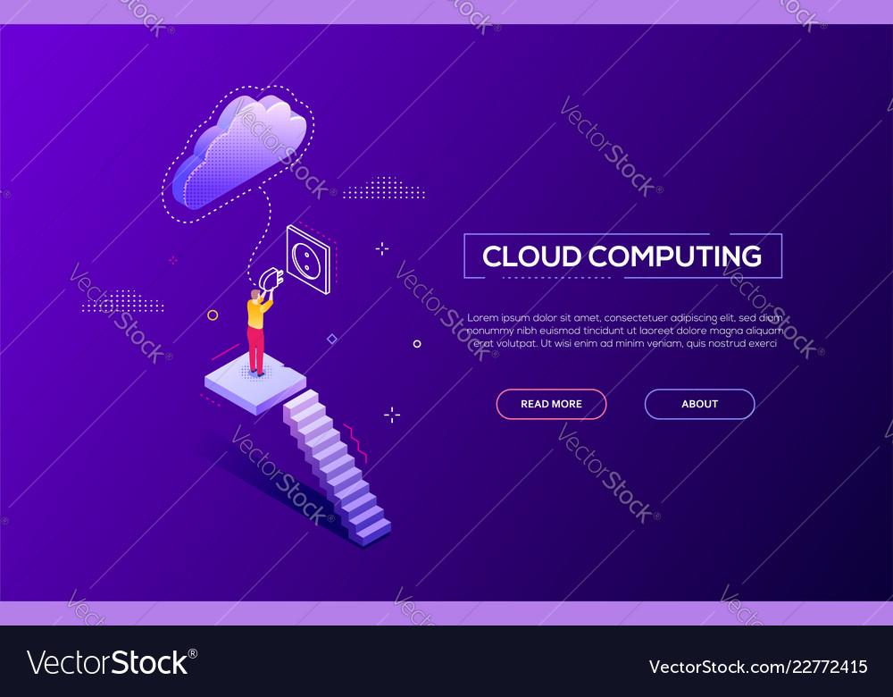 Cloud computing - modern isometric web