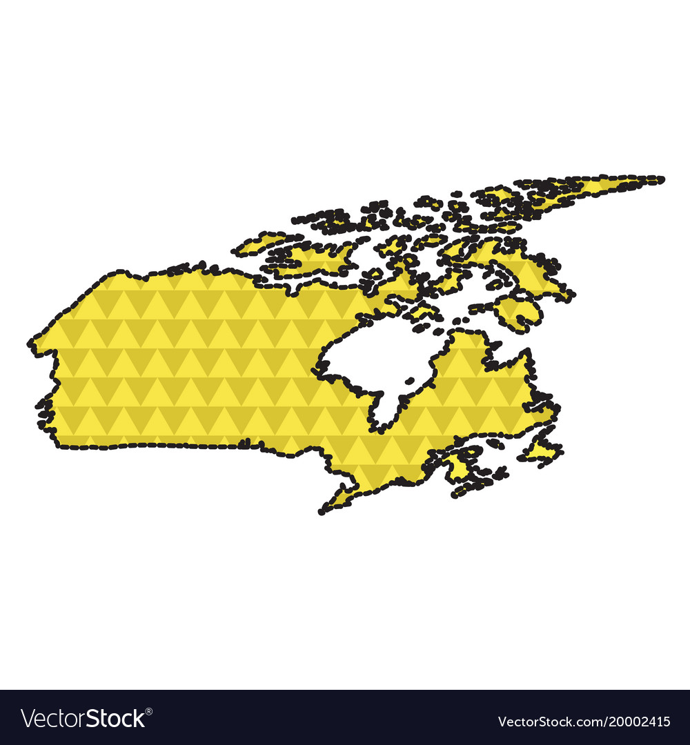 Dotted line map of canada