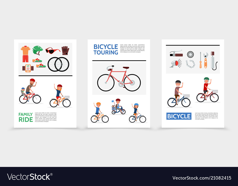 Flat bicycle posters