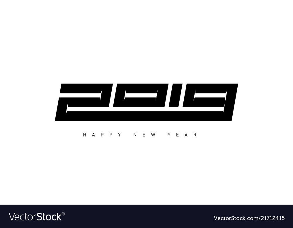 Minimalistic for cover of diary happy new year