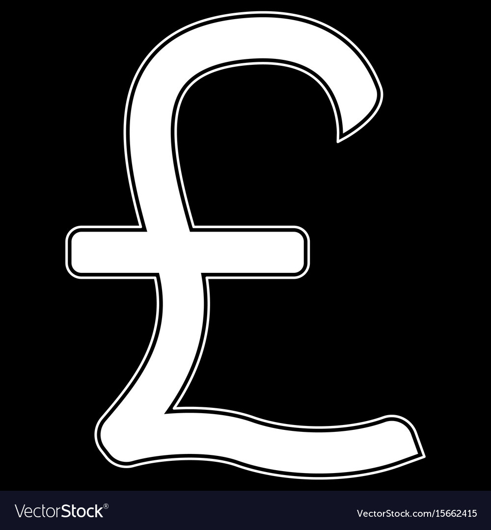 Pound sterling the white color icon