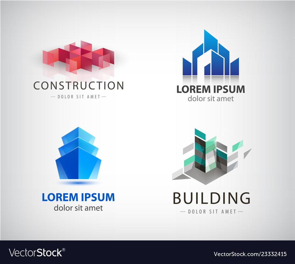 Set off bilding logos architecture
