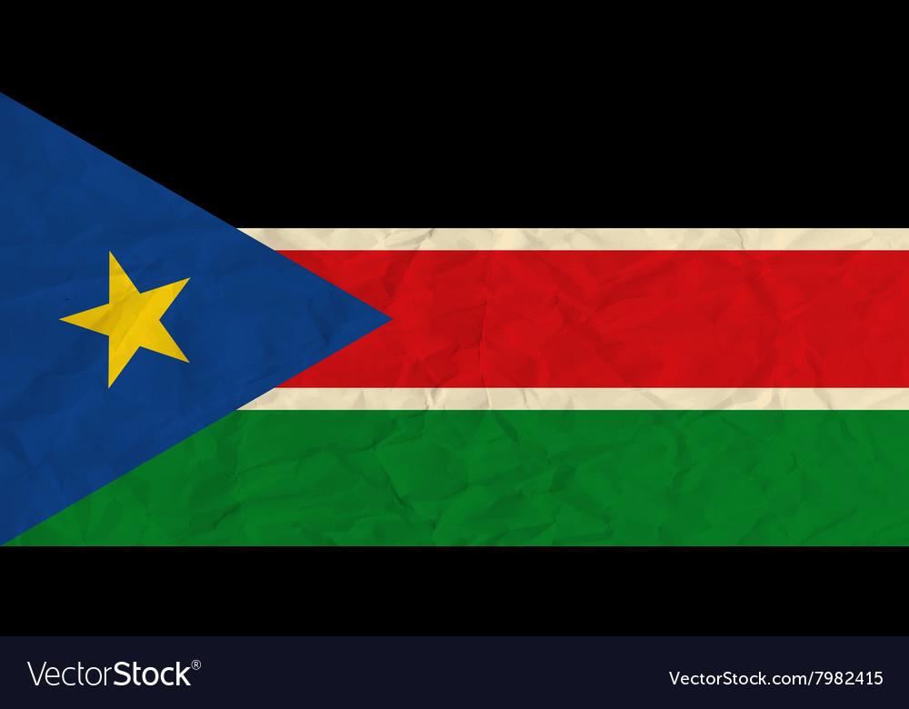 South Sudan paper flag