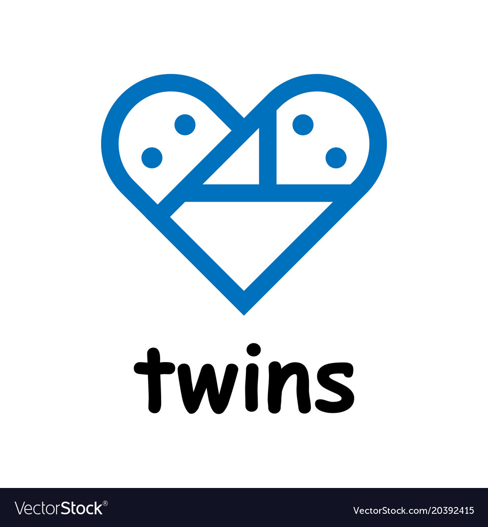 Twins icon on white background vector image