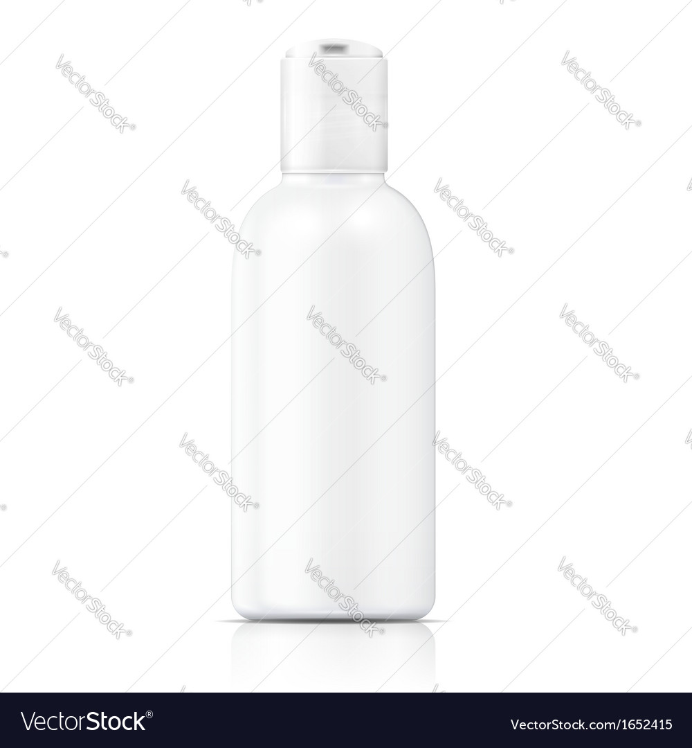 White lotion bottle template