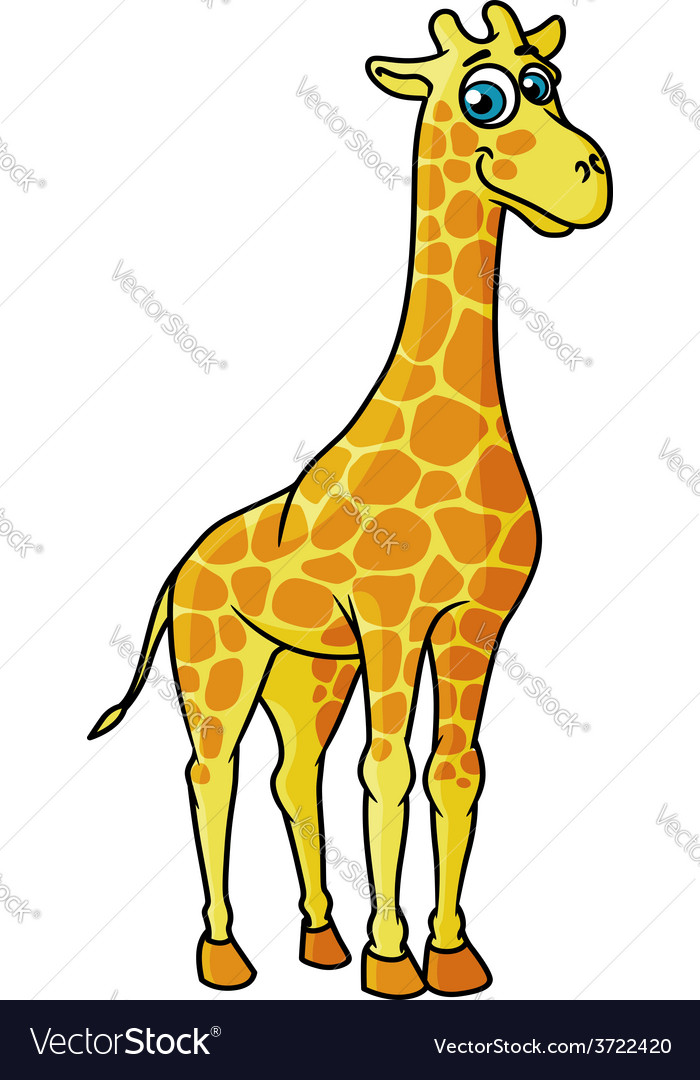 African cartoon giraffe character