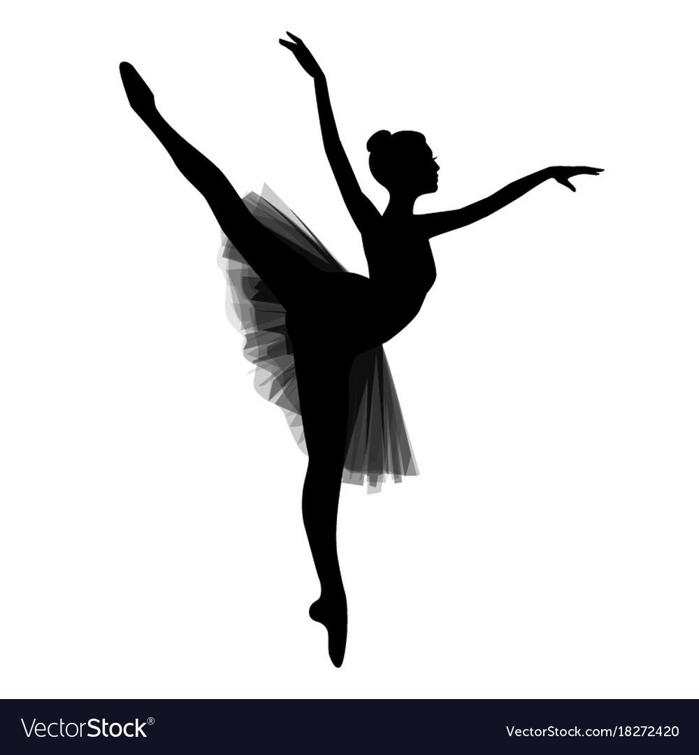 Ballerina On White Background Royalty Free Vector Image