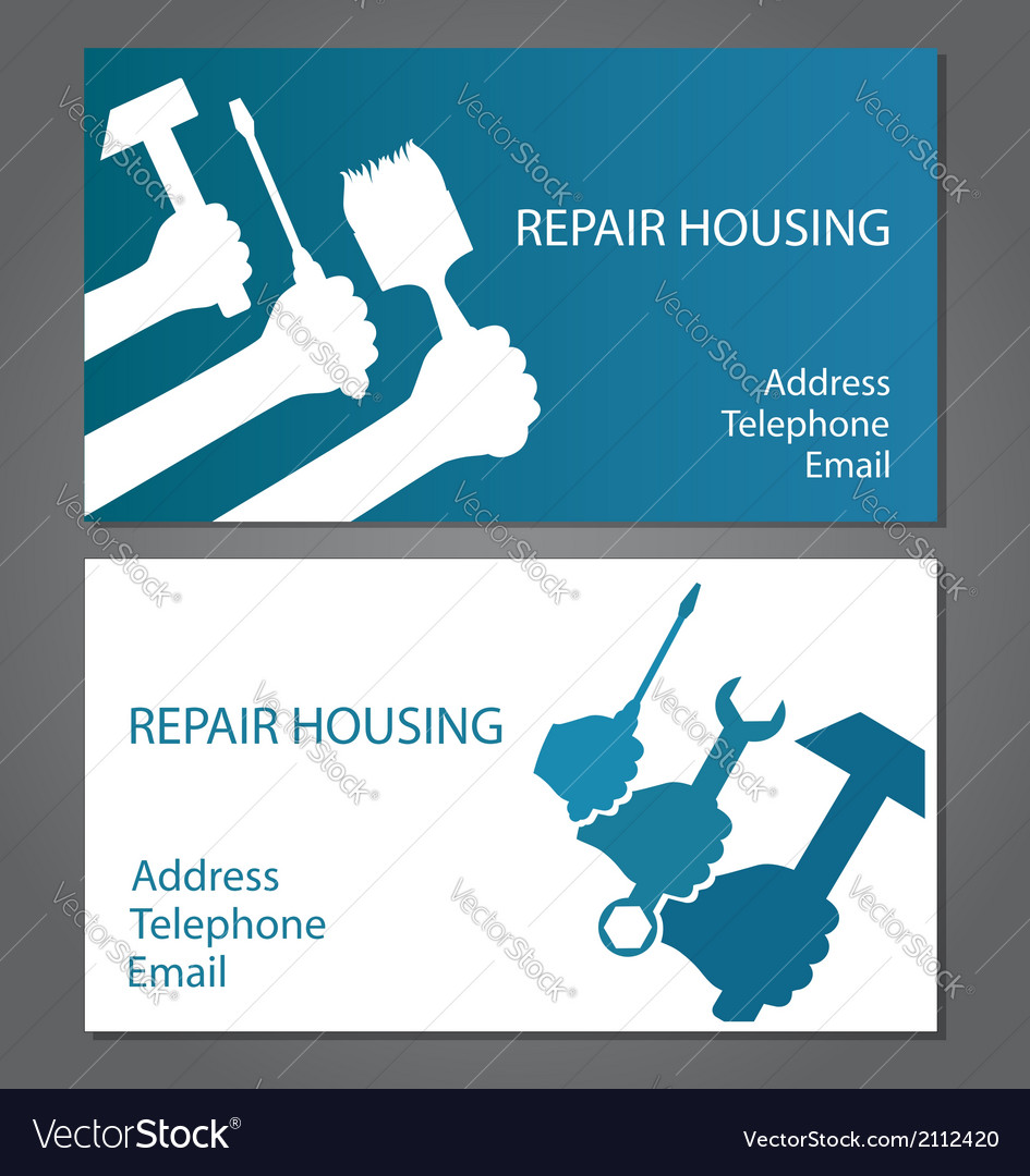 Business card for home repair royalty free vector image business card for home repair vector image colourmoves