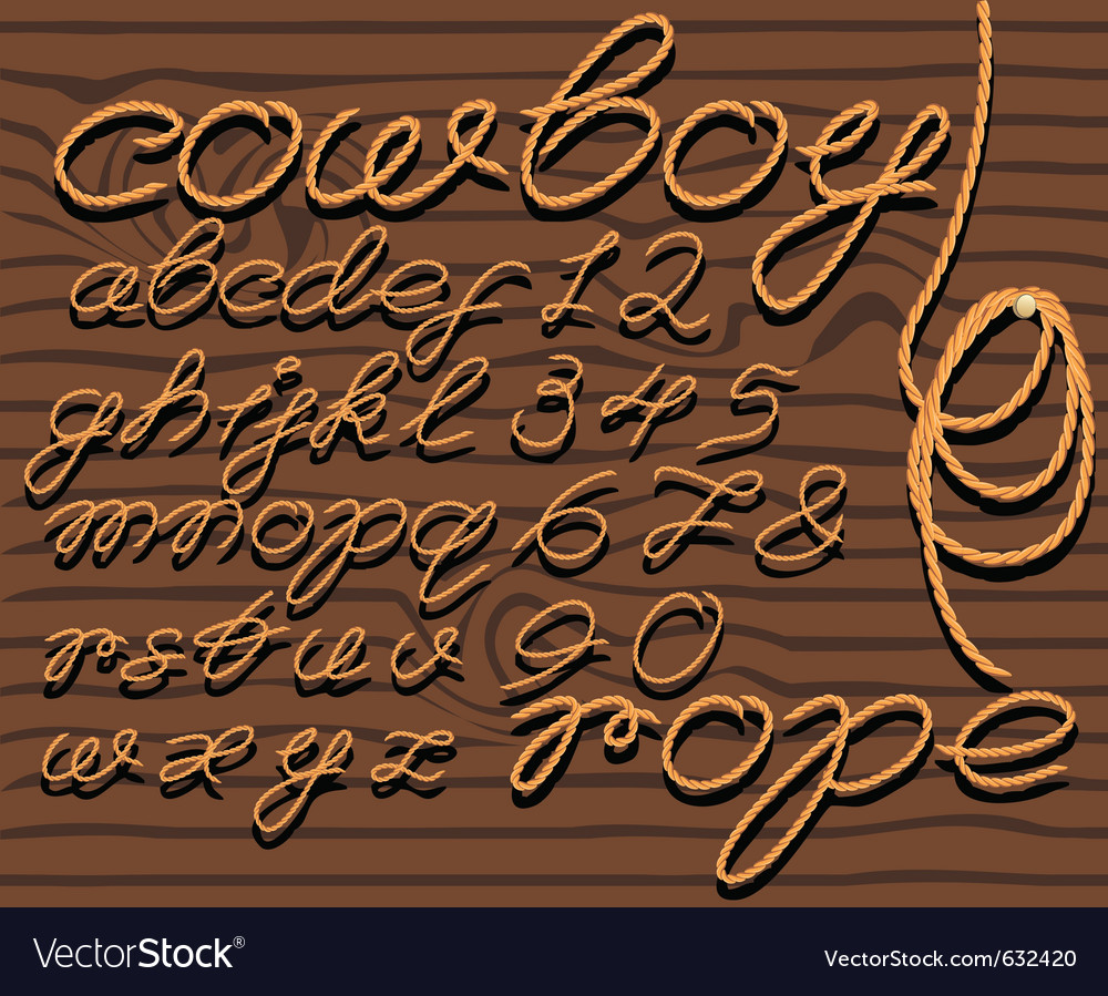 Font rope vector image