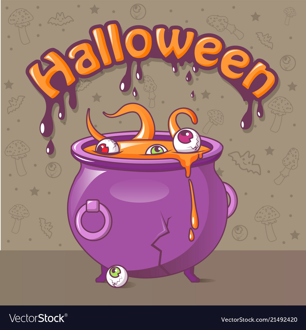Halloween concept background cartoon style