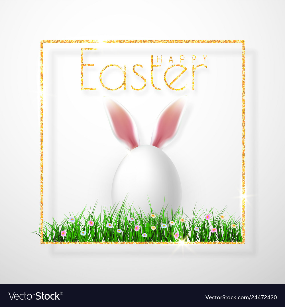 Happy easter realistic easter eggs isolated on a
