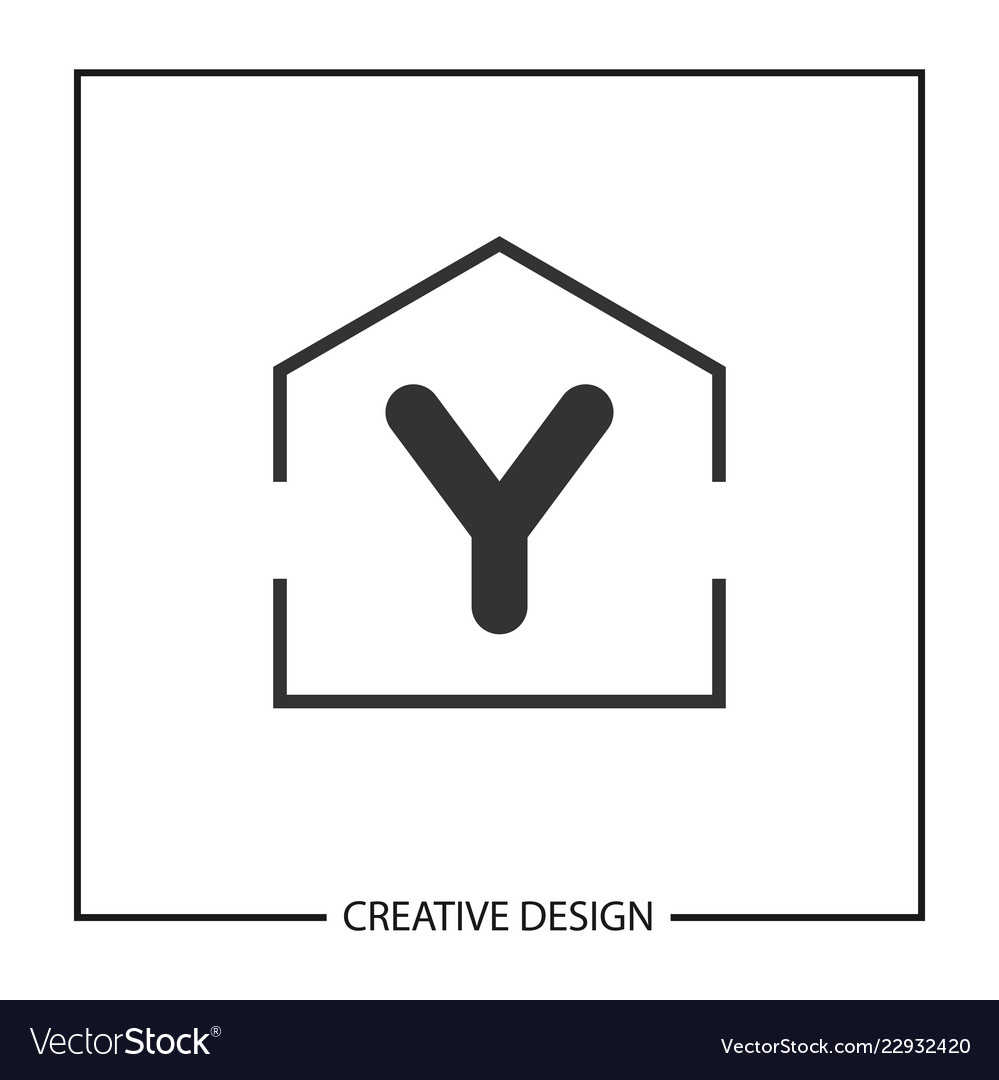 initial letter y logo template design vector image