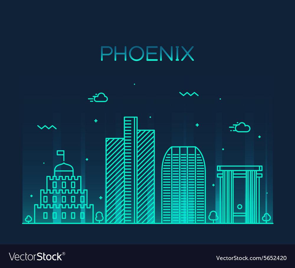 Phoenix skyline trendy linear