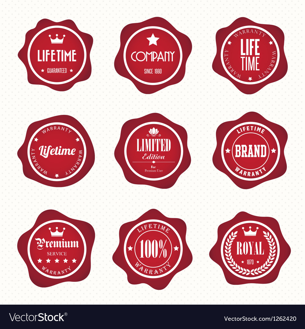 Set of retro vintage badges and labels eps10
