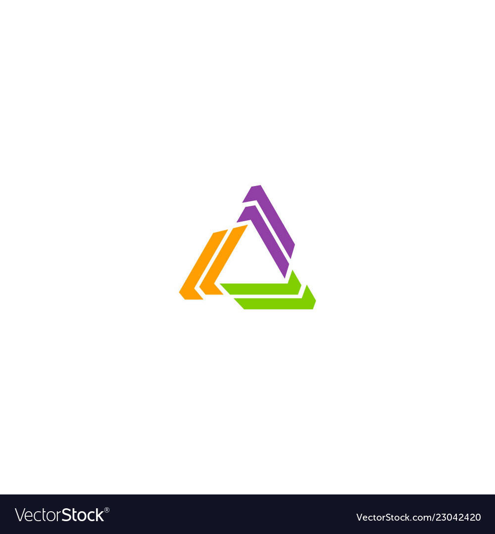 Shape circle colored triangle logo