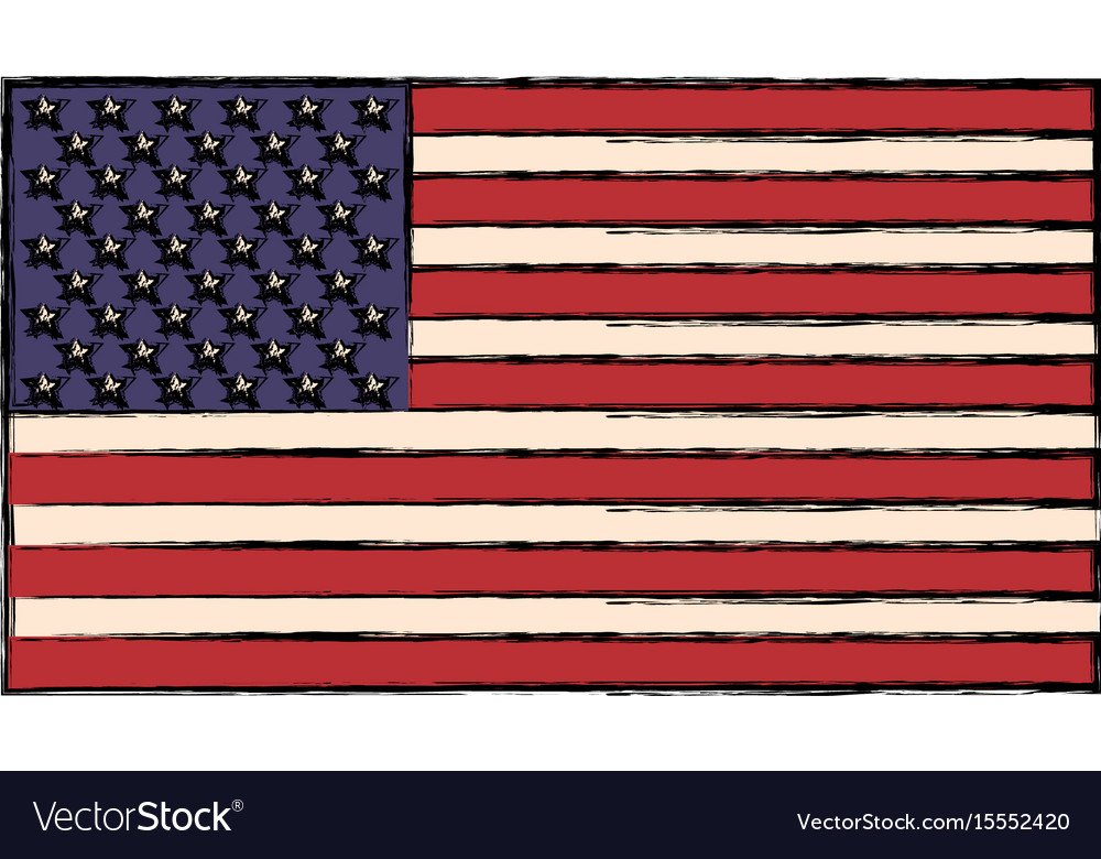 83dc8787b9de United states of american flag insignia national Vector Image