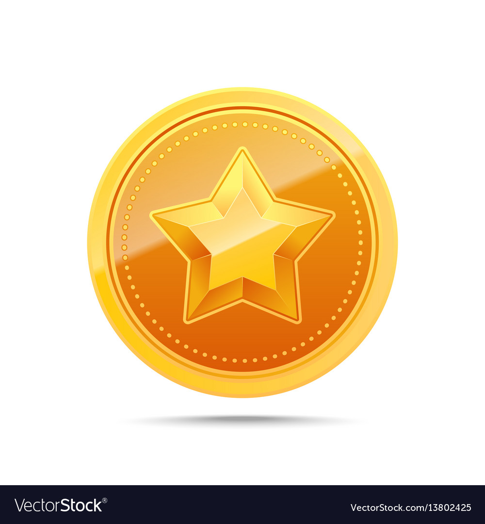 3d gold medal winner award icon vector image