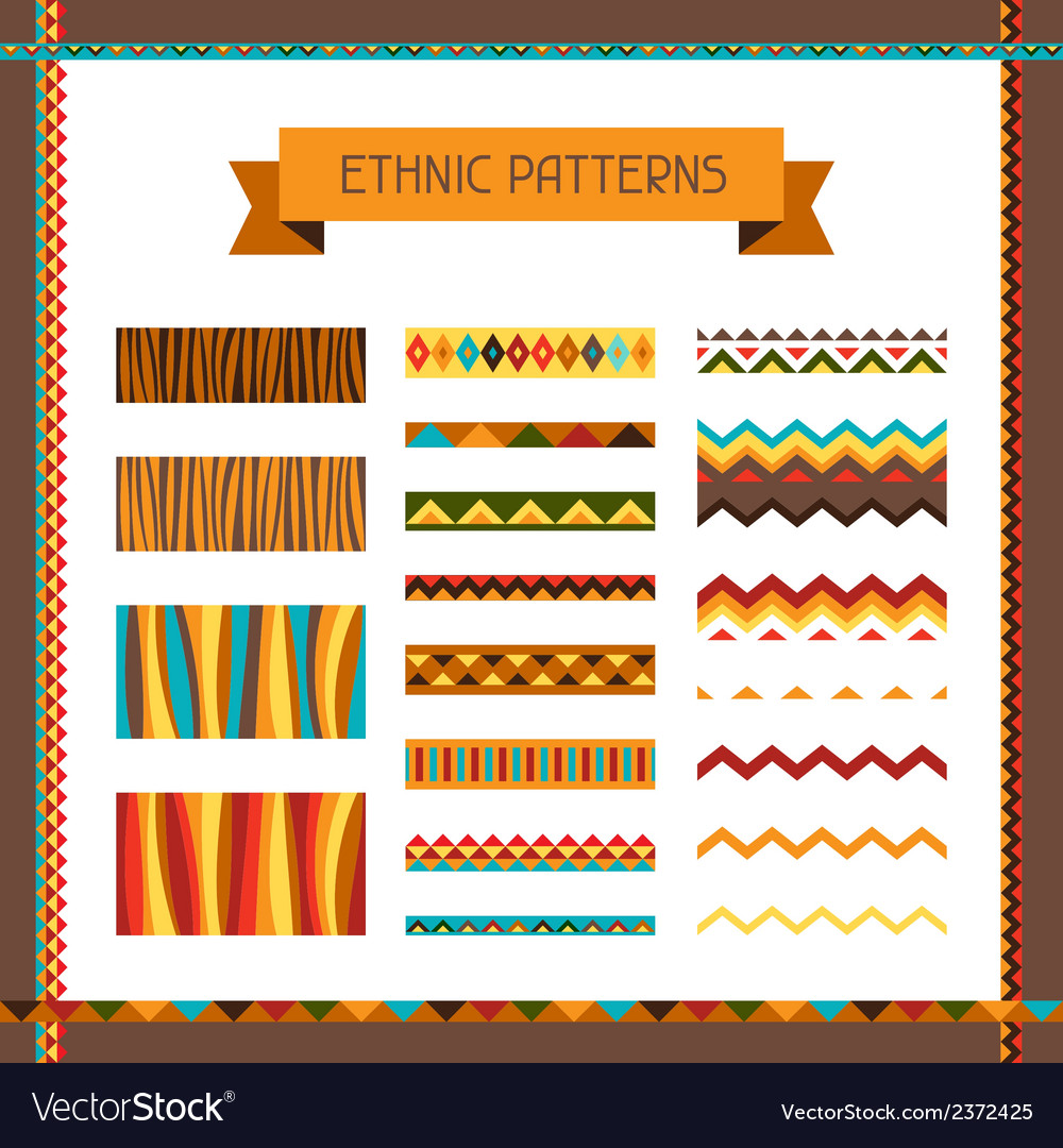 African ethnic seamless ornaments and pattern