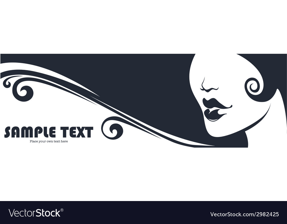 Beauty banner vector image