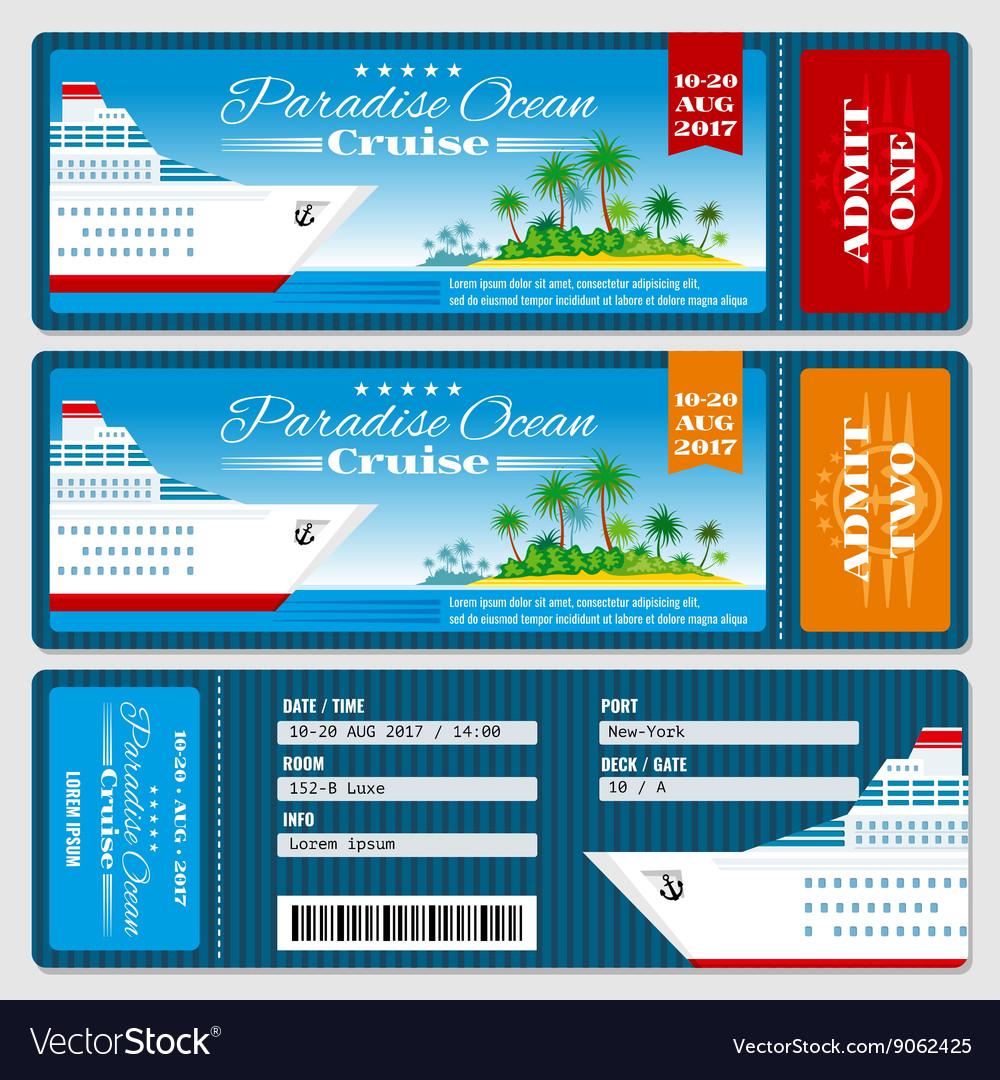 Cruise Ship Boarding Pass Ticket Honeymoon