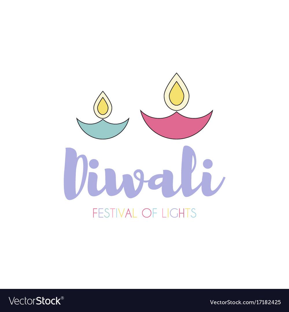 Happy diwali text design