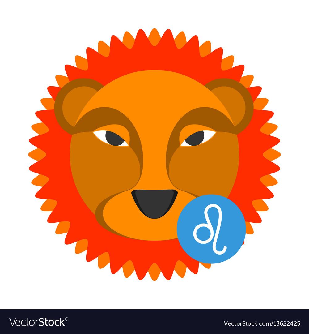 Leo astrology sign isolated on white horoscope