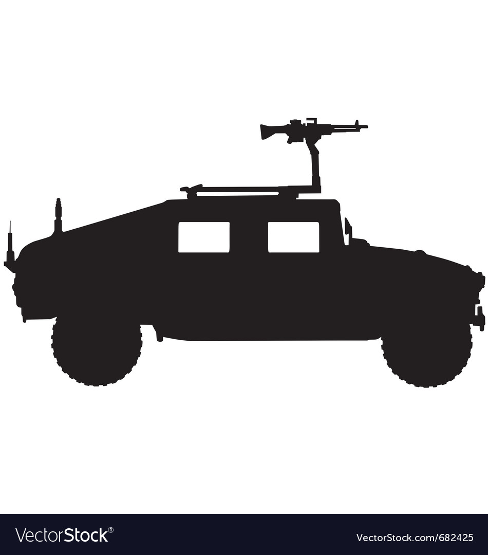 Military 4x4 vehicle silhouette