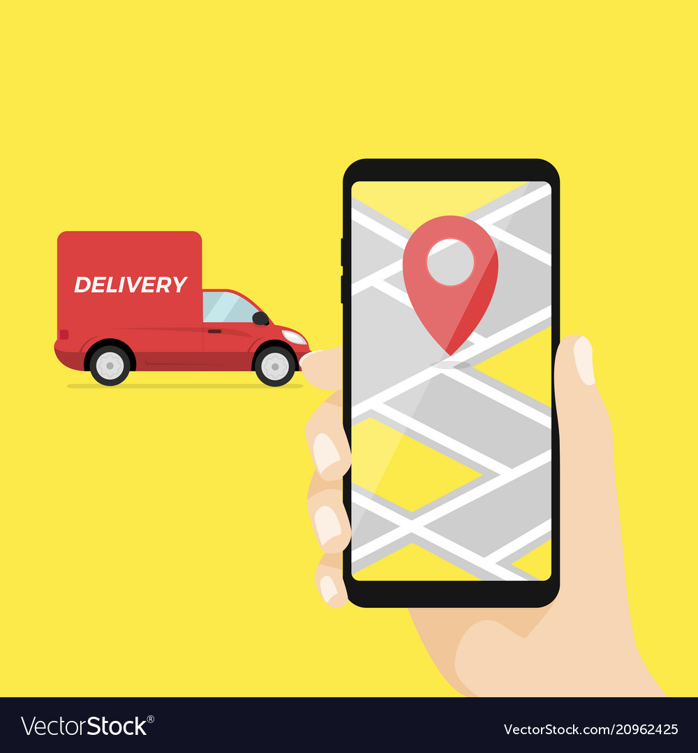 Mobile smart phone with app delivery tracking