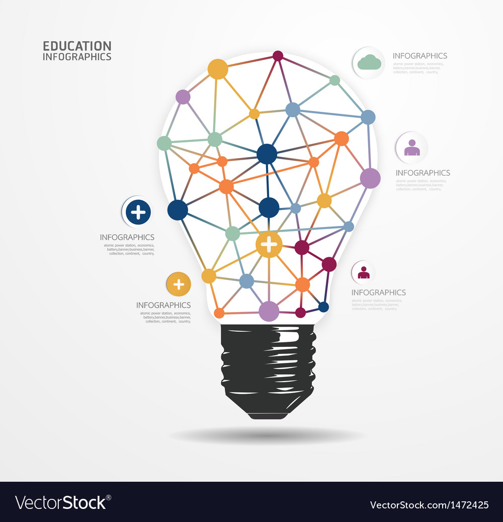 Modern Design light dot Minimal style infographic vector image