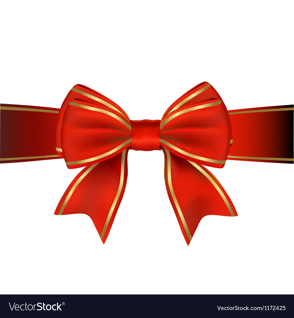 red and gold bow and ribbon gift royalty free vector image rh vectorstock com vector bowls bias vector bowls on ebay