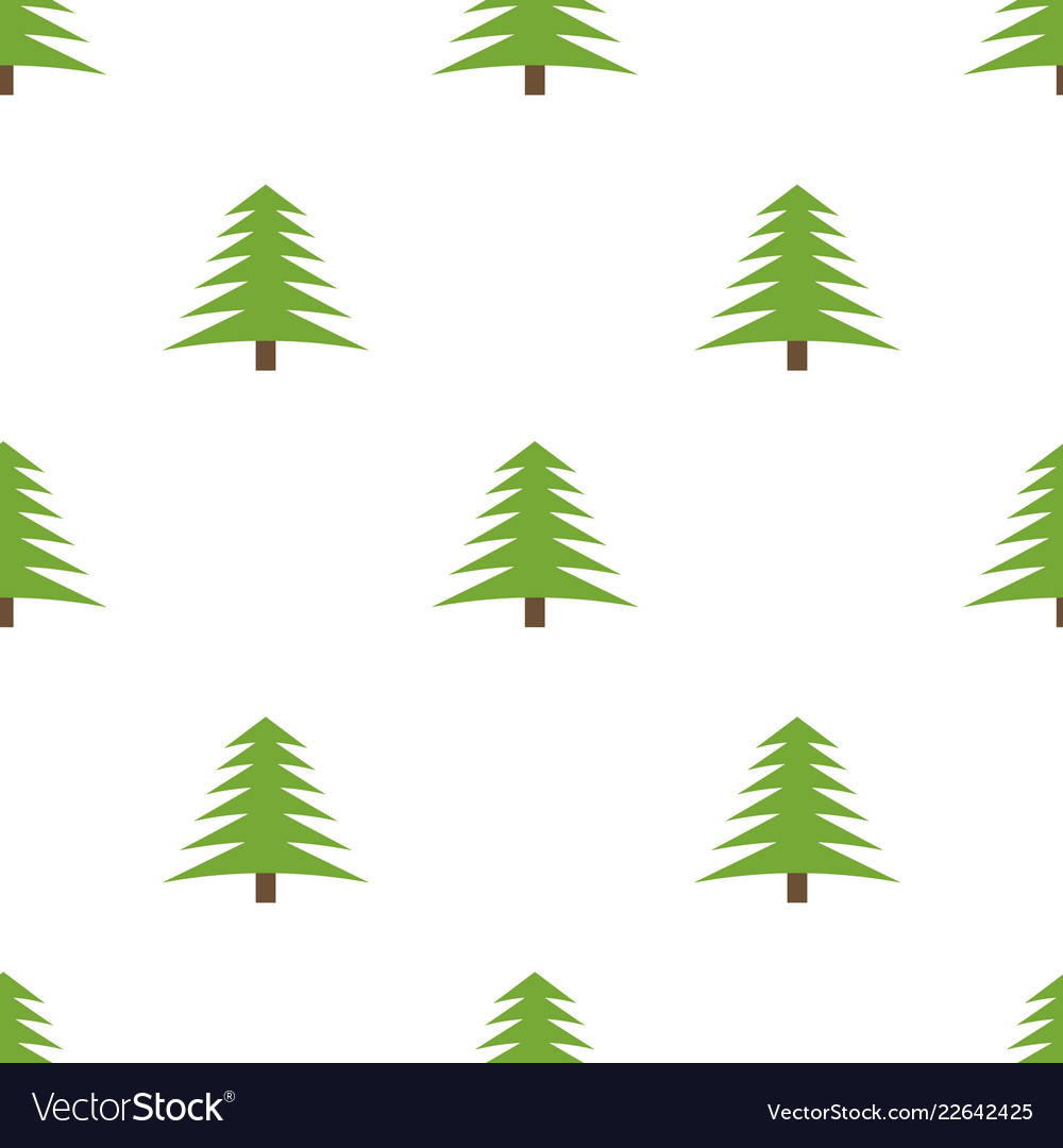 Seamless pattern with spruces