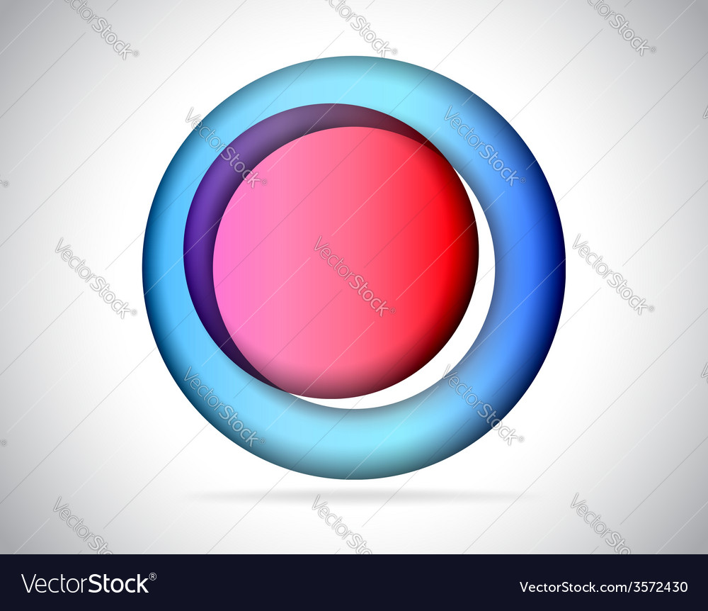 Abstract round colorful glass