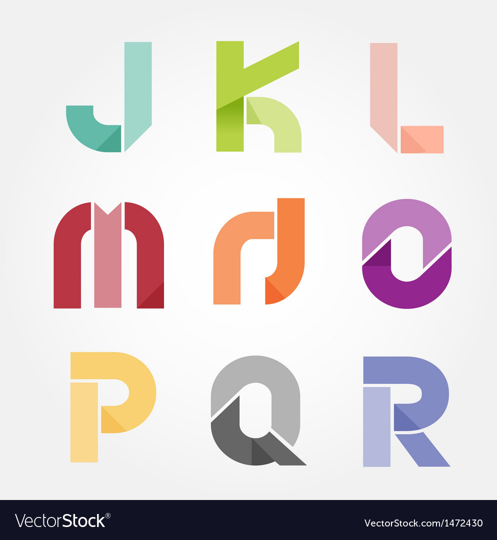 Alphabet modern paper cut abstract style Design