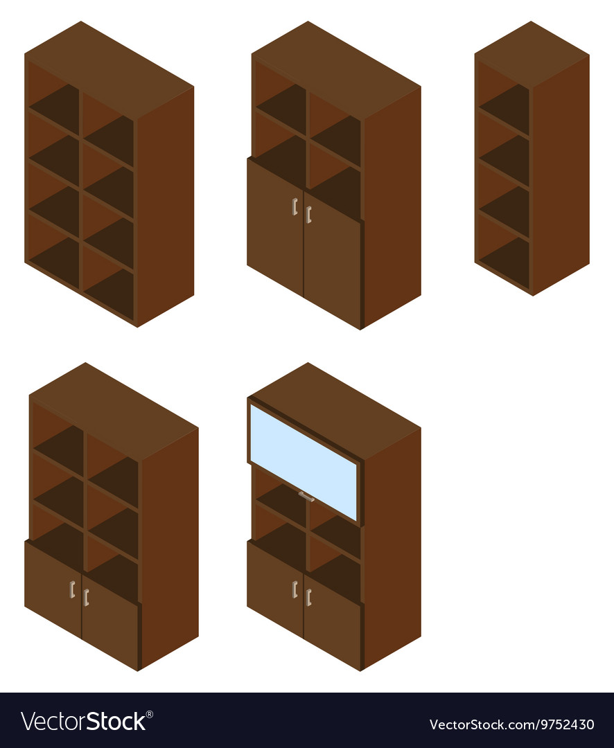 Book cupboard isometric