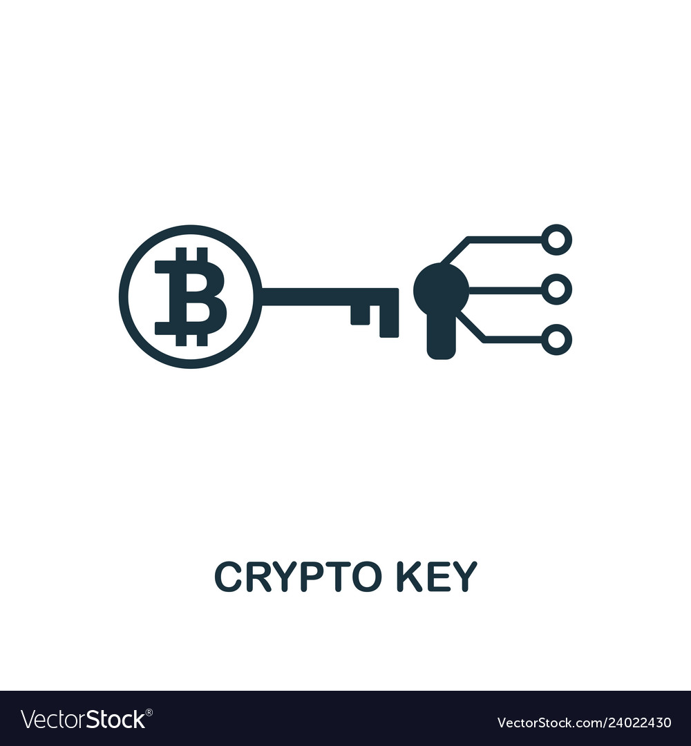 Crypto key icon creative element design from