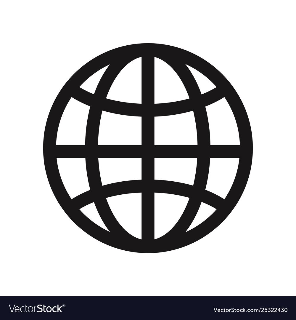 Earth grid icon web symbol